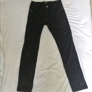 Other - Men's slim-fit black denim pants
